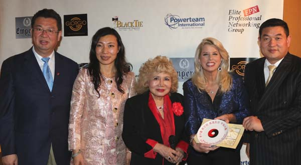 Black Tie China,  welcomed our distinguished guests to NYC.Fan Xiaowei, Party Committee Vice Director, China Artist Association, Dina Fu, Gloria Cressler, Rita Crosby.Professor Li Jing Xing, Director, Beijing University Chinese Balance Theory Research Center