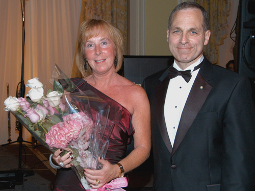 Marilyn Freeh and former FBI Director Louis Freeh, Il Circolo's Man-of-the-Year 2010  Photo by:  Davidoff