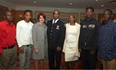 Sarell Ahart, Patrick Weller, Gabrielle L. Kurlander, President and CEO, ASP; Chief Philip Banks, Community Affairs, NYPD; Lenora Fulani, Ph.D., Co-founder, ASP, and Director, Operation Conversation Cops and Kids; Cheyenne Davis, and Melquan Gass
