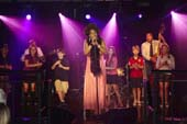 Young members of the cast of Broadway's Matilda join Grammy Award Winner Macy Gray on stage at Tuesday's Children's Annual Gala at the Lighthouse at Chelsea Piers on September 6th, 2012