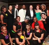 Back row, starting second from left: Pamela A. Lewis, Gregory A. Tosko, Antoine Joyce, Bart M. Schwartz, Gabrielle L. Kurlander, with All Stars Project youth performers.  Photo by:  Ronald L. Glassman