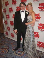 "04-25-12 Cast members Matthew Broderick and Kelli O'Hara at the opening night party of ""Nice Work If You Can Get It"" at the Marriott Narquis Hotel. 1535 Broadway"