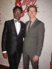 "04-05-13 Cast members Billy Porter (L) and Stark Sands at the opening night party of ""Kinky Boots"" at the Marriott Marquis. 1535 Broadway. Thursday night 04-04-13"