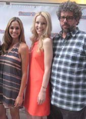 "08-06-13 (L-R) Cast members Elizabeth Masucci. Gia Crovatin. playwright Neil LaBute at the opening reception for ""Summer Shorts 2013"" at the Museum Tower. 15 West 53rd St. Monday night"
