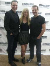 "08-24-12 Cast members (L-R) Patrick Page. Cemence Poesy. Douglas Hodge at a photo op for ""Cyrano De Bergerac"""