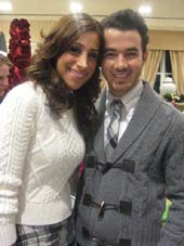12-15-11 Wife Danielle and Kevin Jonas at the Sixth Annual Holiday Celebration to benefit St. Jude Children's Research Hospital at Brooks Brothers' flagship. 346 Madison Ave. Wednesday night 12-14-11