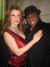 "12-02-11 Pamela Jordan and Ben Vereen at the opening night for ""Bonnie & Clyde"" at the Gerald Schoenfeld Theatre"