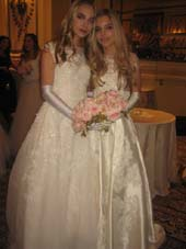 12-31-16 Twin debutantes Diana Ashley Castellano (L) and Conner Alexandra Castellano at the 62nd International Debutante Ball at The Pierre Hotel. 2 East 61st St. .  Photo by: Aubrey Reuben