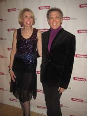 "02-10-14 Cast members Julie Halston and Charles Busch at the opening night party for ""The Tribute Artist"" at Sarabeth's. 40 Central Park South. Sunday night 02-09-14.  photo by:  aubrey reuben"