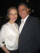 "02-08-15 (L-R) Laila Robins and cast member Robert Cuccioli at the opening night party for ""Snow Child"" at SD26. 19 East 26th St. Sunday night 02-08-15.  Photo by:  Aubrey Reuben"