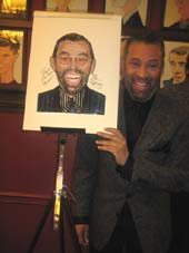 "02-20-16 Cast member Maurice Hines ""Tappin' Thru Life"" receives his caricature at Sardi's. 234 West 42nd St. Wednesday afternoon 02-17-16.  Photo by:  Aubrey Reuben"
