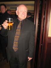 "02-19-15 Cast member Ronald Keaton at the opening night party for ""Churchill"" at St. Andrews Restaurant & Bar. 140 West 46th St. Wednesday night 02-18-15.  Photo by:  Aubrey Reuben"