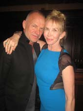 "01-13-14 Sting and Trudie Styler at the opening night party for ""Beautiful - The Carole King Musical"" at Cipriani. 110 East 42nd St.  photo by:  aubrey reuben"