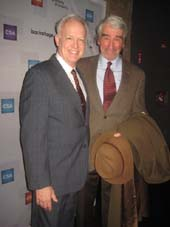1-21-17 Presenters Reed Birney (L) and Sam Waterston at the 32nd Annual Artios Awards at Stage 48. 605 West 48th St. Thursday night. 01-19-17. Photo by:  Aubrey Reuben