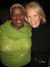 "01-06-12 Cast member Lillias White (L) and producer Daryl Roth at the new cast party of ""Love. Loss. and What I Wore"" at B. Smith's Restaurant 320 West 46th St"