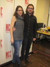"01-08-15 Director Anne Kauffman and playwright Noah Haidle at a photo op. for ""Smokefall"" at MTC Rehearsal Studios. 311 West 43rd St. Thursday afternoon. 01-07-15.  Photo by:  Aiubrey Reuben"