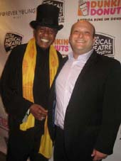 07-10-12 Ben Vereen (L) and Executive Producer Isaac Robert Hurwitz at the opening night gala of the New York Musical Theater Festival (NYMF) at Hudson Terrace.