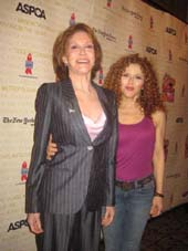 07-15-12 Mary Tyler Moore (L) and Bernadette Peters at Broadway Barks 14th Annual Animal adoption event at the Booth Theatre on West 45th St. Saturday morning 07-14-12