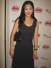 "07-03-14 Actress Lee Eun-Woo ""Moebius"" at a reception for the 2014 New York Asian Film Festival at the Walter Reade Theater. 165 West 65th St. Wednesday night. 07-02-14.  Photo by:  Aubrey Reuben"