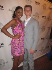 06-08-11 Patina Miller and Jonathan Groff at the 67th Annual Theatre World Awards at the August Wilson Theatre. 245 West 52nd St. Tuesday afternoon 06-07-11