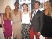 06-18-13 (L-R) Anna Gilligan. Condola Rashad. Laura Osnes. Michael Urie. Christie Brinkley at the Inside Broadway 2013 Broadway Beacon Awards at Joe's Pub. 425 Lafayette St. Monday evening 06-17-13