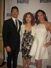 06-25-16 (L-R) Honoree Daniel Dae Kim. Bernadette Peters. honoree Andrea Burns at the Inside Broadway Beacon Awards at the JW Marriott Essex House. 160 Central Park South. Monday night 06-20-16.  Photo by:  Aubrey Reuben
