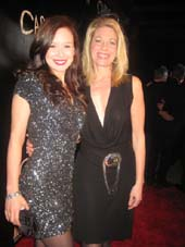 "03-02-12 Cast members Molly Ranson (L) and Marin Mazzie at the opening night party for ""Carrie"" at Griffin"