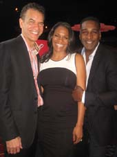 05-14-16 (L-R) Brian Stokes Mitchell. Audra McDonald. Norm Lewis at the New Dramatists 67th Annual Spring Luncheon honoring Audra McDonald at the New York Marriott Marquis. 1535 Broadway. .  Photo by:  Aubrey Reuben