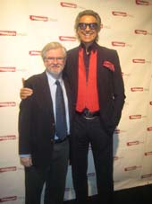 11-12-13 Honoree Christopher Durang (L) and Tommy Tune at the Primary Stages Annual Gala at the Edison Ballroom. 240 West 47th St. Monday night 11-11-13.  photo by:  aubrey reuben
