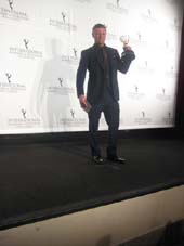"11-26-13 Sean Bean in ""Accused"" won the award for Best Performance by an Actor at the International Emmy Awards 2013 at the New York Hilton. 1335 Avenue of the Americas. Monday night 11-25-13.  photo by:  aubrey reuben"