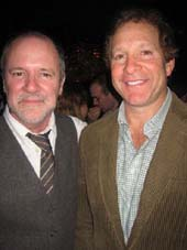 "11-21-12 Playwright Bruce Graham (L) and Steve Guttenberg at the opening night party for ""The Outgoing Tide"" at Lavo. 39 East 58th St. Tuesday night 11-20-12"