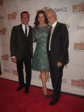 "09-28-15 (L-R) Executive Director Joe Lanteri. Catherine Zeta-Jones. Michael Douglas at the ""Bright Lights Shining Stars"" to benefit the NYC Dance Alliance Foundation at NYU Skirball Center. 566 LaGuardia Place. Sunday night. 09-27-15.  Photo by:  Aubrey Reuben"