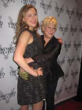 "10-21-14 Mother Bette Midler and daughter/cast member Sophie von Haselberg at the opening night for ""Billy & Ray"" at the Vineyard Theatre. 108 East 15th St. Monday night.10-20-14.  Photo by:  Aubrey reuben"