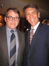 "10-28-15 (L-R) Cast members Matthew Broderick. Robert Sella at the opening night party for ""Sylvia"" at Bryant Park Grill. 25 West 40th St.. Tuesday night. 10-27-15.  Photo by: Aubrey Reuben"