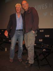 "09-26-14 Cast member Richard Gere (L) and director Oren Moverman after a Q & A following a press screening of their film ""Time Out of Mind"" at the Walter Reade Theater. 165 West 65th St. 09-25-14.  Photo by:  Aubrey reuben"