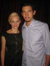 "09-28-12 Cast member Joanne Tucker and Adam Driver at the opening night party for ""Through the Yellow Hour"" at"