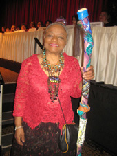 05-12-11 Faith Ringgold. Artist. Activist & Feminist received a Celebrating Women Award at the 24th Annual Celebrating Women Breakfast at the New York Hilton. 1335 Avenue of the Americas. Thursday morning 05-12-11
