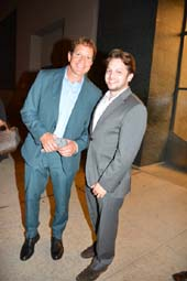 Steve Guttenberg and Sean Katz leaving Andy Cohen.  Photo by:  Rose Billlings