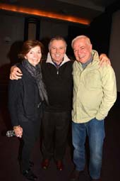 Roland and Mary DeSilva and Writer-Director Joseph Jacoby.  photo by:  rose billings