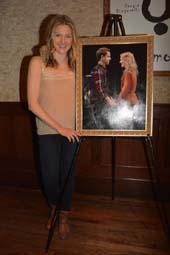 Joanna Christie star of Once with Portrait of her and co-star Paul Alexander. photo by:  Rose Billings