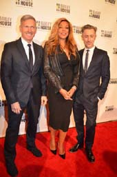 Harlan Bratcher President& CEO AIX Armani Exchange, Wendy Williams, and Alan Cumming.  Photo by:  Rose Billings