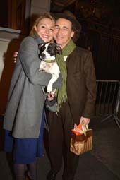 Juliet Rylance dog Apache and Mark Rylance .  photo by:  rose billings