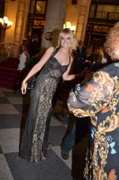 Beth Behrs leaving after party at The Plaza for The Tony Awards. Photo by:  Rose Billings