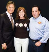 Dr. Oz, Michele Jacobs and Chip Donahue.  Photo by:  LILA Photo