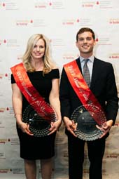 Man & Woman of the Year Winners, Alexander Basse & Jessica Johnson.  Photo by:  Agnes Myers