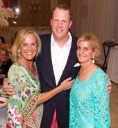 Longtime supporters Liza Pulitzer (left) and Nellie Benoit(right), photographed with Drew Rothermel (center), the Pr .  Photo by:  LILA Photoesident of Caron�s Florida market and CEO of the Hanley Center, were the chairmen for the inaugural Caron and Hanley Treatment Centers Gala, which was
