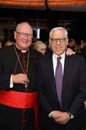 His Eminence, Timothy Michael Cardinal Dolan, David Rubenstein. Photo by:  Matthew Adam Photography
