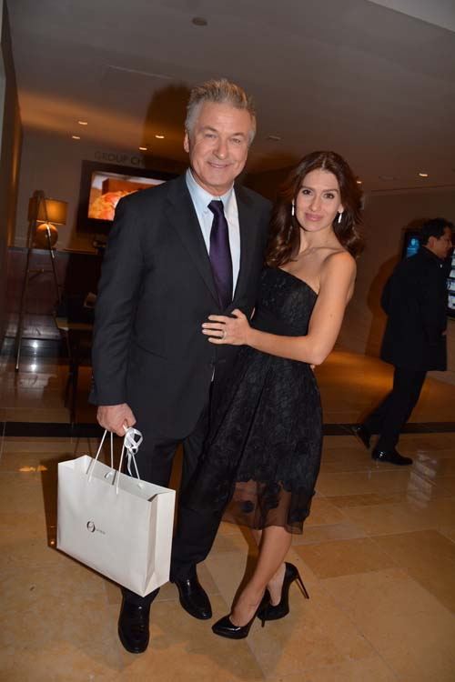 Alec Baldwin (Host) and his lovely wife Hilaria Baldwin.  Photo by:  Rose Billings/Blacktiemaagzine.com