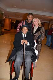 Usher and Sharon Bush with Honoree Harry Belafonte.  Photo by:  Rose Billings/Blacktiemaagzine.com