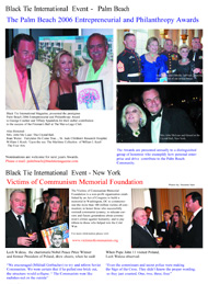 Palm beach Philanthropic and entrepeneurial Awards, Victims of Communism